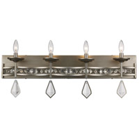 Eli 4 Light 31 inch Antique Silver Leaf Vanity Bar Wall Light