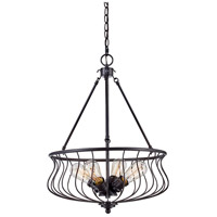 Congress 4 Light 18 inch Rubbed Oil Bronze Pendant Ceiling Light