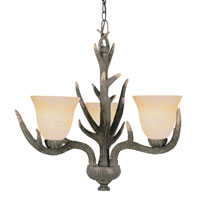 Trans Globe Lighting Country Style And Antlers 3 Light Chandelier in Replica Deer Antler 7080-RDA