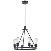 Trans Globe Lighting 70846-ROB Underwood 6 Light 18 inch Rubbed Oil Bronze Pendant Ceiling Light