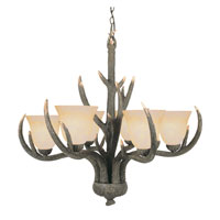 Trans Globe Lighting Country Style And Antlers 6 Light Chandelier in Replica Deer Antler 7086-RDA
