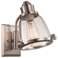 Boston 1 Light 6 inch Brushed Nickel Wall Sconce Wall Light