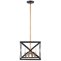 Trans Globe Lighting 71056-ROB/AB Ackerman 4 Light 16 inch Rubbed Oil Bronze and Antique Brass Pendant Ceiling Light