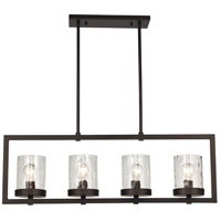 Amberwood 4 Light 45 inch Rubbed Oil Bronze Pendant Ceiling Light