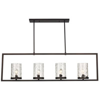 Amberwood 4 Light 55 inch Rubbed Oil Bronze Pendant Ceiling Light
