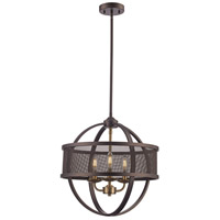 Trans Globe Lighting 71353-ROB/AG Crosswinds 3 Light 18 inch Rubbed Oil Bronze and Antique Gold Pendant Ceiling Light
