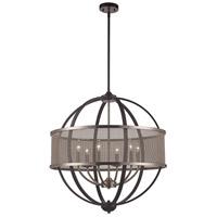 Trans Globe Lighting 71356-BK/BN Crosswinds 6 Light 27 inch Black and Brushed Nickel Pendant Ceiling Light