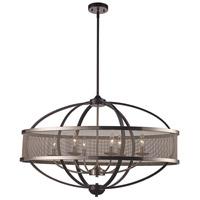 Trans Globe Lighting 71357-BK/BN Crosswinds 6 Light 15 inch Black and Brushed Nickel Pendant Ceiling Light