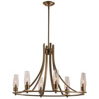 Trans Globe Lighting 71376-AG Salinas 6 Light 17 inch Antique Gold Chandelier Ceiling Light