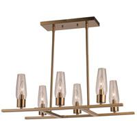 Trans Globe Lighting 71377-AG Salinas 6 Light 14 inch Antique Gold Pendant Ceiling Light
