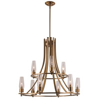 Trans Globe Lighting 71379-AG Salinas 9 Light 23 inch Antique Gold Chandelier Ceiling Light