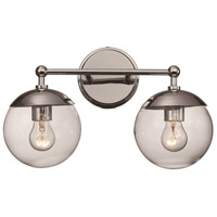 Trans Globe Lighting 71382-PC Riviera 2 Light 16 inch Polished Chrome Vanity Bar Wall Light