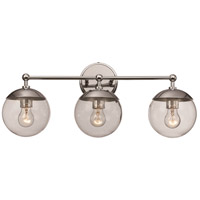 Trans Globe Lighting 71383-PC Riviera 3 Light 24 inch Polished Chrome Vanity Bar Wall Light