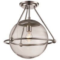 Trans Globe Lighting 71385-PC Riviera 1 Light 16 inch Polished Chrome Semiflush Ceiling Light