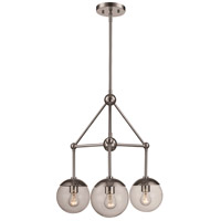 Trans Globe Lighting 71387-PC Riviera 3 Light 21 inch Polished Chrome Pendant Ceiling Light