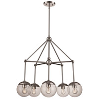 Trans Globe Lighting 71388-PC Riviera 5 Light 19 inch Polished Chrome Pendant Ceiling Light