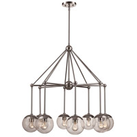 Trans Globe Lighting 71389-PC Riviera 8 Light 19 inch Polished Chrome Pendant Ceiling Light