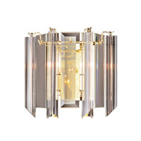 Trans Globe Lighting Back To Basics 2 Light Wall Sconce in Polished Brass 7162-PB