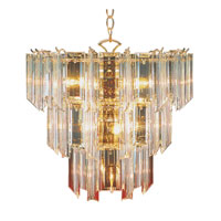 Signature 10 Light 18 inch Polished Brass Chandelier Ceiling Light in Clear Beveled Acrylic tapers