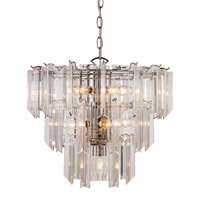 Signature 10 Light 18 inch Polished Chrome Pendant Ceiling Light in Acrylic Clear/Beveled