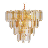 Signature 13 Light 19 inch Polished Brass Chandelier Ceiling Light in Clear Beveled Acrylic tapers