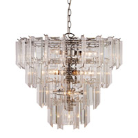 Signature 13 Light 19 inch Polished Chrome Pendant Ceiling Light in Acrylic Clear/Beveled
