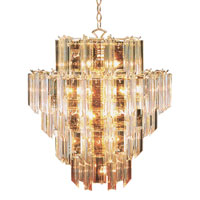 Signature 16 Light 22 inch Polished Brass Chandelier Ceiling Light in Clear Beveled Acrylic tapers