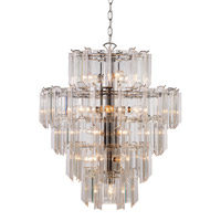 Signature 16 Light 22 inch Polished Chrome Pendant Ceiling Light in Acrylic Clear/Beveled