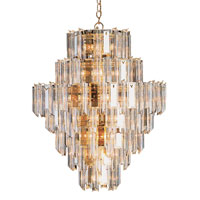 Signature 26 Light 36 inch Polished Brass Chandelier Ceiling Light in Clear Beveled Acrylic tapers