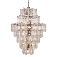 Signature 26 Light 36 inch Polished Chrome Pendant Ceiling Light in Acrylic Clear/Beveled
