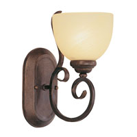 Trans Globe Moustache Scroll 1 Light Wall Sconce in Rubbed Oil Bronze 7211-ROB