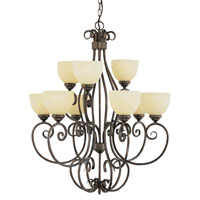Trans Globe Lighting New Century 9 Light Chandelier in Antique Brown Rust 7218-ABR photo thumbnail