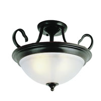 Bishop 3 Light 15 inch Rubbed Oil Bronze Semi-Flush Mount Ceiling Light