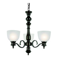 Bishop 3 Light 22 inch Rubbed Oil Bronze Chandelier Ceiling Light