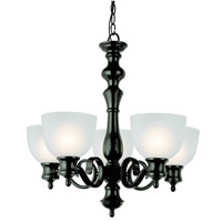 Trans Globe Bishop 5 Light Chandelier in Rubbed Oil Bronze 7295-ROB
