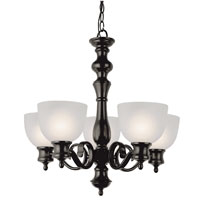 Trans Globe Lighting Back To Basics 5 Light Chandelier in Rubbed Oil Bronze 7295-ROB
