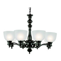 Trans Globe Bishop 8 Light Chandelier in Rubbed Oil Bronze 7298-ROB