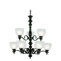 Trans Globe Bishop 9 Light Chandelier in Rubbed Oil Bronze 7299-ROB