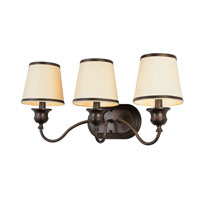 Trans Globe Lighting Modern Meets Traditional 3 Light Sconce in Rubbed Oil Bronze 7533-ROB photo thumbnail