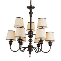 Trans Globe Lighting Modern Meets Traditional 9 Light Chandelier in Rubbed Oil Bronze 7539-ROB photo thumbnail