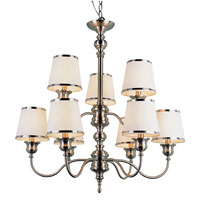 Trans Globe Lighting Modern Meets Traditional 9 Light Chandelier in Rubbed Oil Bronze 7539-SN photo thumbnail