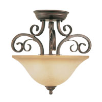 Trans Globe Lighting Sights Of Seville 2 Light Semi-Flush Mount in Antique Brown Rust 7790-ABR