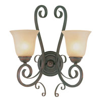Trans Globe Lighting Sights Of Seville 2 Light Wall Sconce in Antique Brown Rust 7791-ABR