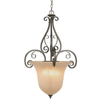 Trans Globe Lighting Sights Of Seville 3 Light Pendant in Antique Brown Rust 7792-ABR
