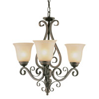 Trans Globe Lighting Sights Of Seville 3 Light Chandelier in Antique Brown Rust 7793-ABR