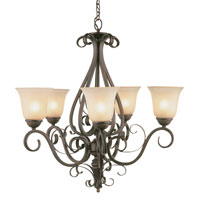 Trans Globe Lighting Sights Of Seville 5 Light Chandelier in Antique Brown Rust 7795-ABR