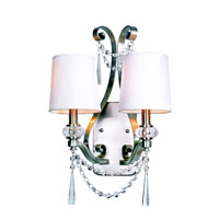 Trans Globe Lighting Modern Meets Traditional 2 Light Wall Sconce in Brushed Nickel 7872-BN photo thumbnail