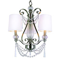 Trans Globe Lighting Modern Meets Traditional 3 Light Chandelier in Brushed Nickel 7873-BN