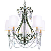Trans Globe Lighting Modern Meets Traditional 5 Light Chandelier in Brushed Nickel 7875-BN