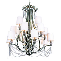 Trans Globe Lighting Modern Meets Traditional 16 Light Chandelier in Brushed Nickel 7877-BN